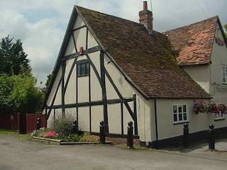 Tudor timber frame pub