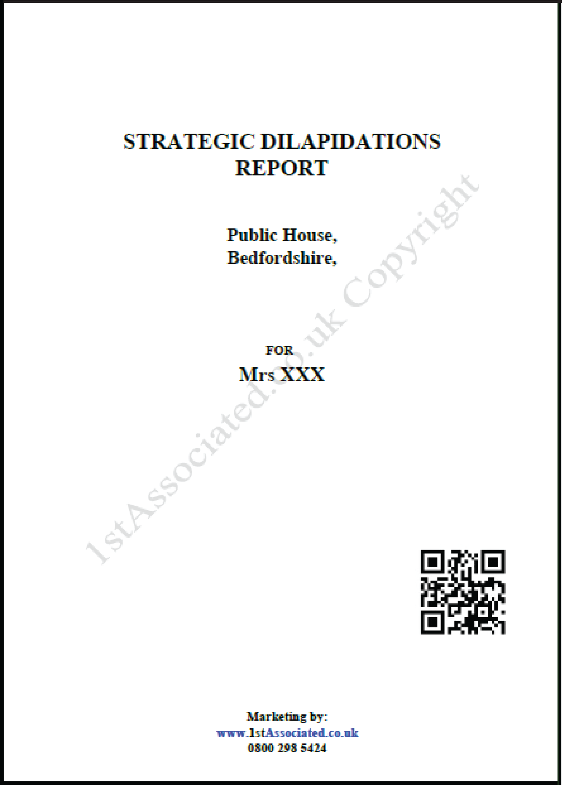 Building dilapidation report template